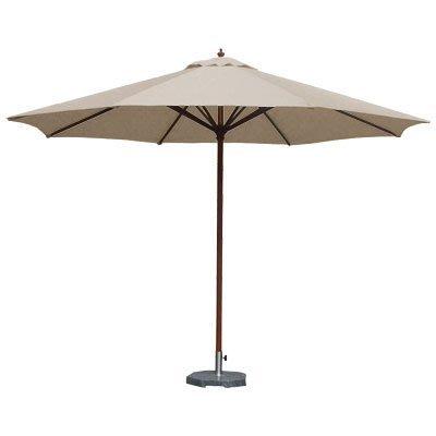 【舒福家居】7尺木傘/庭園傘/戶外遮陽傘/印尼木/台灣製防潑水布/卡其色