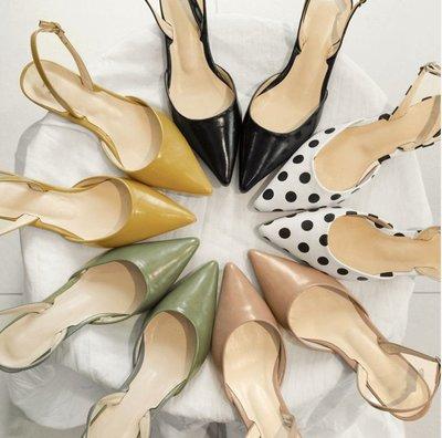 韓國空運 2018Rosely/夏季/Stilettos/露趾鞋/Mid Heel/女鞋