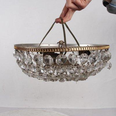 百寶軒 20世紀早期西洋民俗老物件老式燈具吊燈三個螺口小燈頭無燈泡 ZG1279