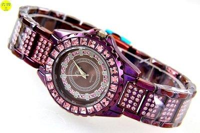 (六四三精品).紫色面盤.紫色錶殼.滿...