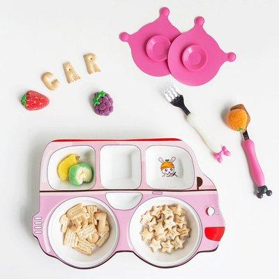 日式可愛卡通兒童家用陶瓷餐具套裝 創意個性寶寶分格盤餐盤碗盤