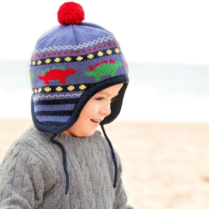【兔寶寶部屋】特價。恐龍圖案兒童毛帽/英國JoJo Maman Bebe原裝