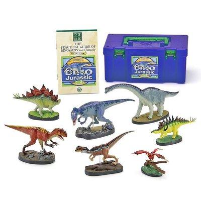 日本正版 立體圖鑑擬真模型BOX 侏羅紀恐龍 7種組 小模型 小公仔 日本代購