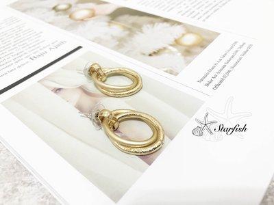 【海星 Starfish】時尚必備 異材質層次搭配 出眾圈圈耳環