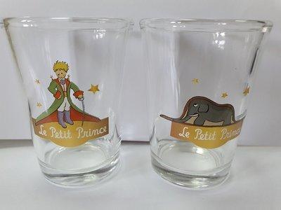 全新 博客來 小王子 童年 友誼對杯(兩入一組)透明杯組/小王子 大象 盒裝