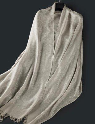 【Lady Luck服飾】定制絲圍巾 低奢金絲亮絲圍巾 宴會披肩 純棉低奢春夏秋冬女