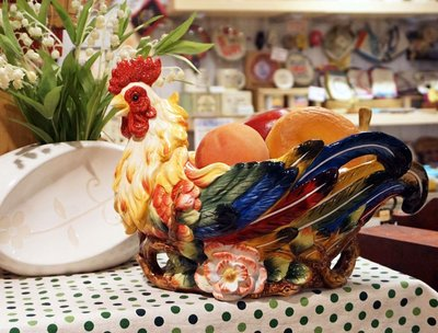 ~蘇菲亞精品傢飾~ 義大利設計台灣工藝公雞水果盤收納盤