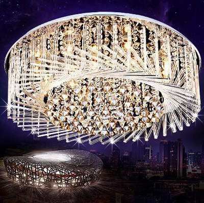 客廳燈水晶燈吸頂燈創意鳥巢間約現代大氣家用臥室燈餐廳大廳燈具
