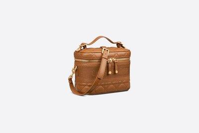 DIOR  Logo  棕色羊皮車縫小號化妝盒包 女包 S5488UNTR_M44M  萊克精品代購 210326023