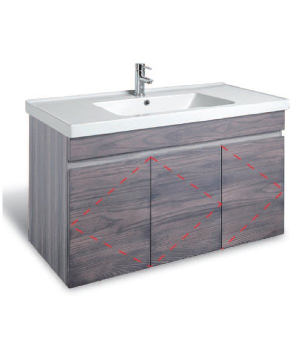 CORINS 水平線 洗灰 -CHG-R-100 防水發泡板檯面盆浴櫃