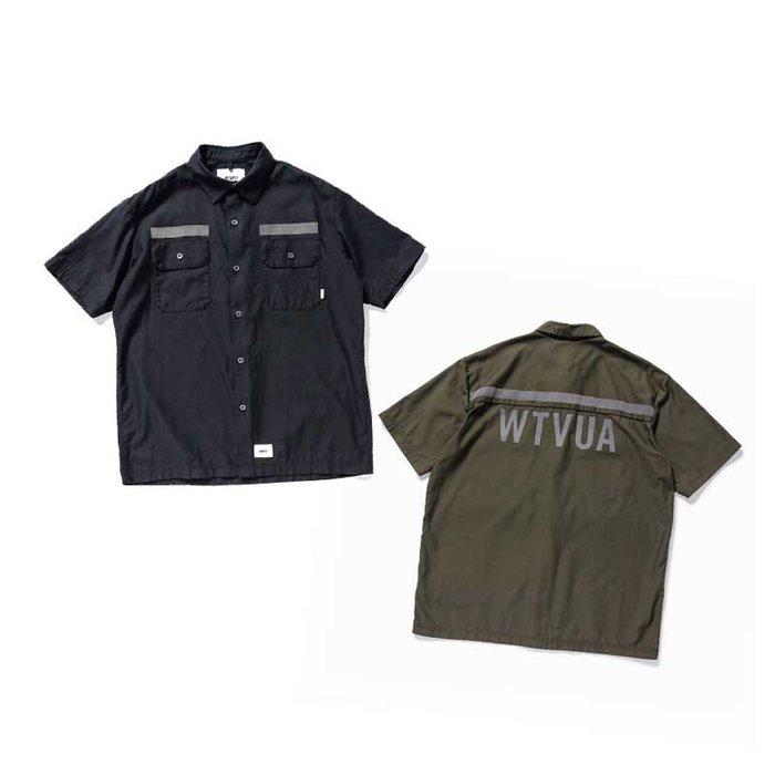 KS▸2019 WTAPS DECK SS / SHIRT. COTTON. SATIN 軍裝 反光 短袖襯衫