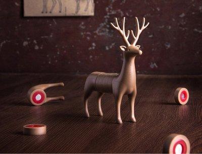 異國設計好物QUALY動物切片磁鐵名片座(6入組)森林廌鹿佈置自己的工作小天地