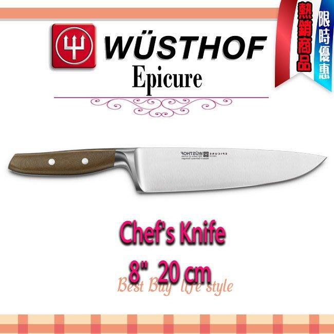 德國 WUSTHOF 三叉牌  Epicure Chef's Knife 20cm, 8吋 主廚刀 #3982-20