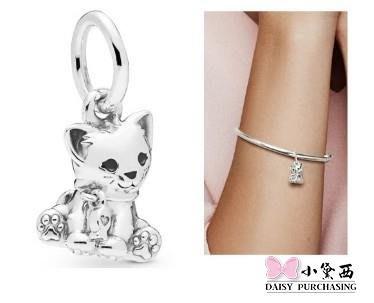 【小黛西歐美代購】Pandora 潘朵拉 純銀新款甜貓吊墜珠 925純銀 美國正品代購