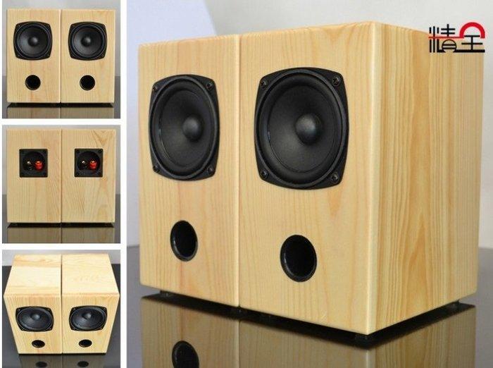 ~新品~3吋迷宮 全音域喇叭音箱(天然松木結構箱體)一對兩顆含網罩.人聲甜美~現貨~