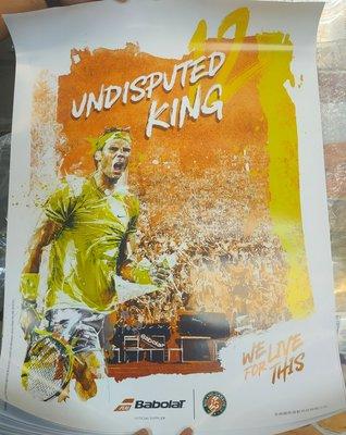 *總統網球*(自取可刷國旅卡)  Rafael Nadal Parera 納達爾 法網 12 冠 海報