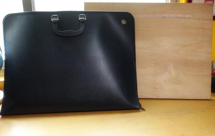 [C.M.平價精品館]59*43*4.2CM大容量實用好看多隔間黑色繪畫用品手提袋