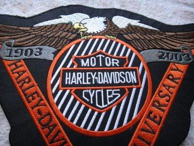 哈雷機車騎士百週年背章徽章飛車黨hog chopper club davidson vibes bike buco indian骷髏老鷹 tt co