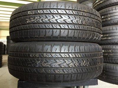 阿波羅輪胎館  日本進口二手輪胎  普利司通H/L  225/60-18約8-9成新 另有其他品牌規格及全新商品可以選購