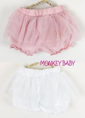滿699 ~MONKEY BABY ~幼童蕾絲束口短褲2色  3~9M穿