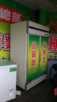 台製*冷藏冰箱  西點櫥  雙門透明玻璃冷藏  美美 完整  順光冷凍行