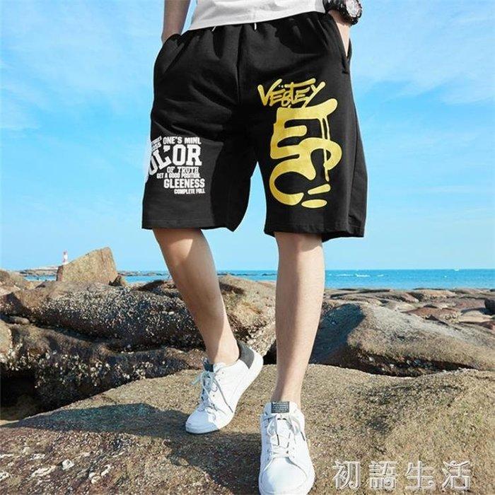 短褲夏季男士七分褲加肥加大碼短褲寬鬆休閒中褲嘻哈運動中褲肥佬短褲CYSH15732