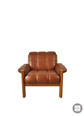 【 BRASS PARK 銅公園 】北歐 Stressless 皮革沙發單椅 古董/二手老件/休閒椅/單椅/主人椅