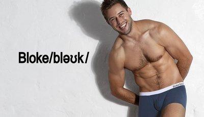aussieBum Bloke 簡約低腰四角褲_海軍