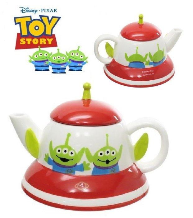 迪士尼Disney《現貨》三眼怪 UFO 幽浮茶壺320ml~日本正品~心心小舖