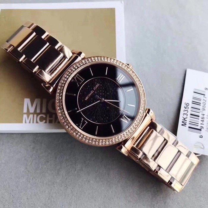 風格 MK手錶 全新正品 MK3356 新款水晶鑽女錶 腕錶 羅馬錶盤鑲鑽手錶 全場特價款