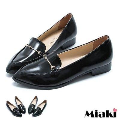 個性潮流尖頭平底包鞋休閒鞋【F14L125】Miaki