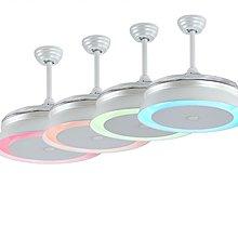 燈飾倉風扇燈陳列室歡迎參觀選購 #8606 彩色吊扇燈 手機調光調色