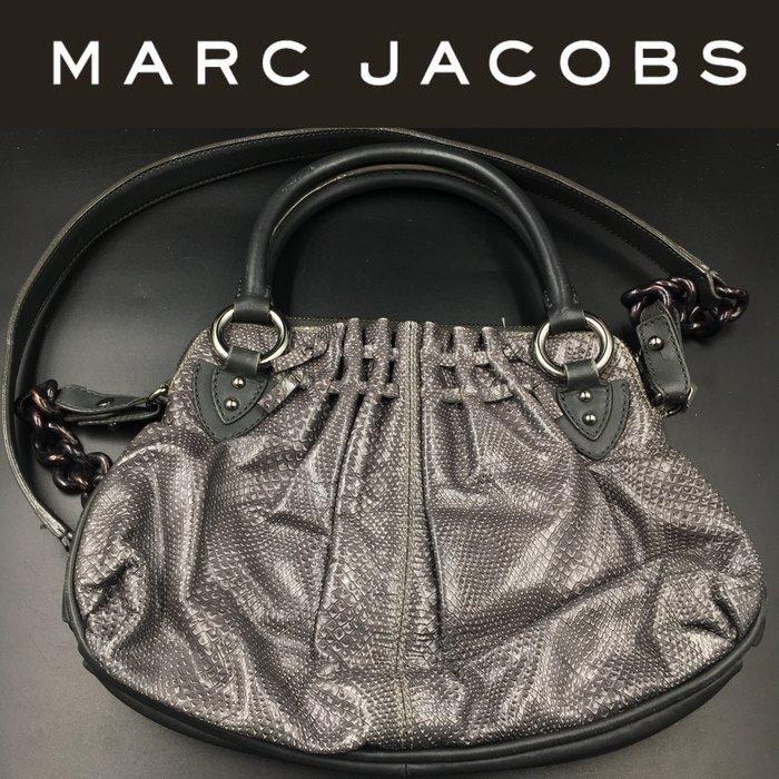 【皮老闆】二手真品 美國精品 MARC JACOBS 手提包 肩背包 祖母包 斜背包 (藍3)