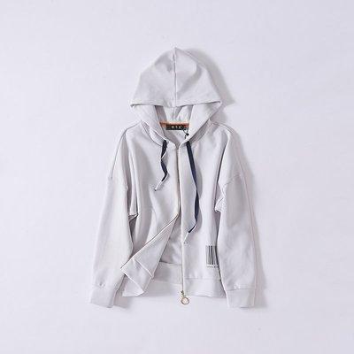 Small jie ~洛系列   時尚連帽長袖寬鬆短款上衣外套974111249   L
