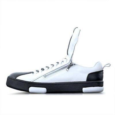 【格倫雅】^英倫男士牛皮套腳單鞋增高鞋圓頭厚底朋克船鞋休閑懶人鞋40606[g-l-y09