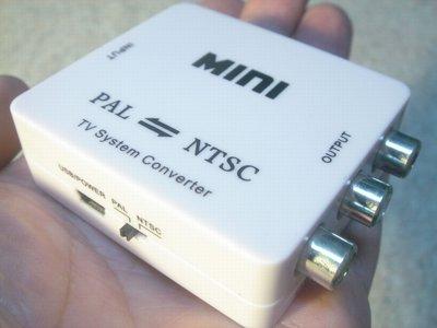 PAL NTSC制式轉換器 PAL轉NTSC/NTSC轉PAL 小米盒子 遊戲機 機上盒 桃園《蝦米小鋪》