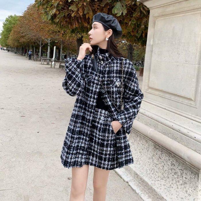 ❤JM SHOP韓風❤不挑人的香奶奶套裝粗花呢香風外套半身裙