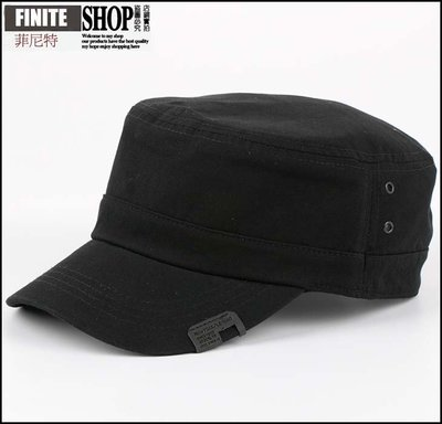 Finite-菲尼特-平頂帽夏季純色百搭簡約復古男士女士戶外遮陽休閒韓版潮鴨舌帽