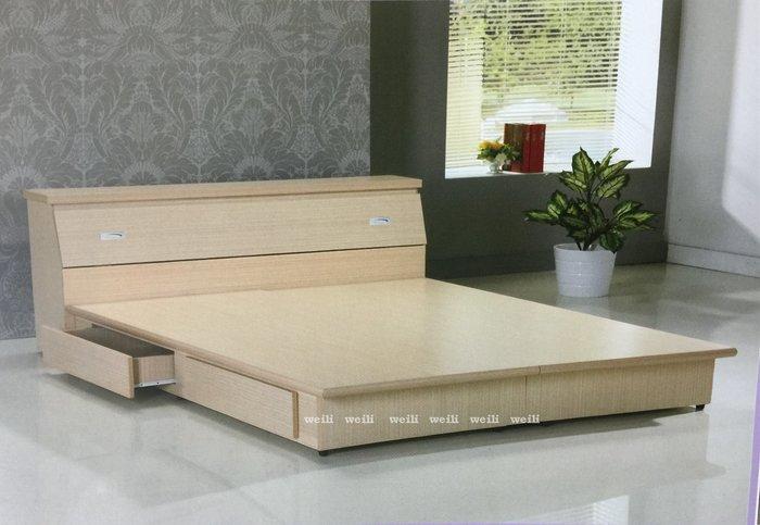 Z【新北蘆洲~偉利傢俱】A級圓線飾板6尺四抽六分木心板雙人床底-編號(Z-10)【促銷中】