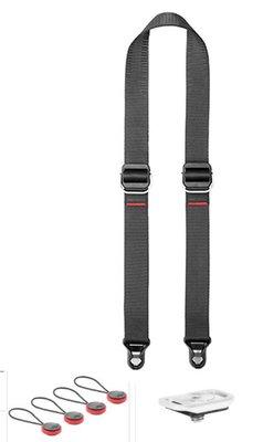呈現攝影-Peak design 快裝相機背帶Slide Lite中號 (沈穩黑) 小紅豆 小底版 單肩 斜肩 頸帶