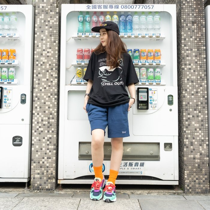 【A-KAY0】RIPNDIP 男女 PEEKING NERM SHORTS 棉短褲 海軍藍【RND2741NAVY】