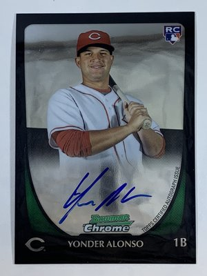2011 Bowman Chrome Rookie #210 Yonder Alonso Auto RC Reds