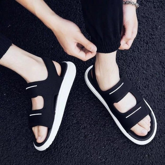 涼鞋-涼鞋男士涼鞋新款個性男款涼鞋男韓版男士沙灘鞋涼拖鞋男夏季