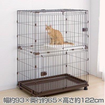 *COCO*日本IRIS-PCS-932組合屋-雙層貓屋狗籠貓籠 可與其他款組合多種變化組合屋