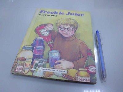 6980銤:A15-4☆1971年『Freckle Juice』原文 英文童書繪本