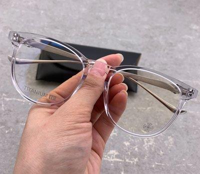 美國chrome hearts日本制鏡架十字架克羅銀飾眼鏡近視明星款男女透明流行鏡框中性PLUCK