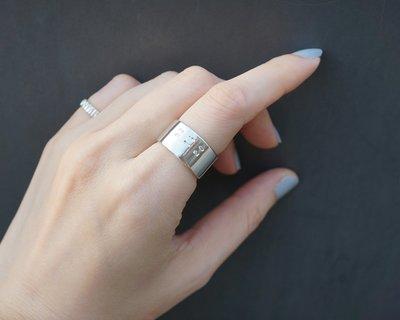 [Cami Handicraft] 悄悄話傳情意 數字密碼戒 - 純銀款 戒圍#9 #10