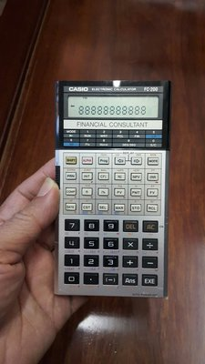 CASIO FC-200 FINANCIAL CONSULTANT 計算机,只售HK$120