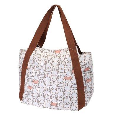 沛吉兔日貨館。日本直送 現貨 miffy 米飛兔 米菲 手提袋 帆布 媽媽包 大容量收納包 拉鍊 環保購物袋