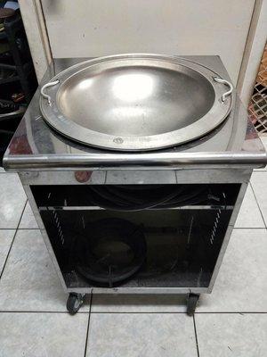 九成新單口湯桶台,附上隔水加熱內外鍋與爐具